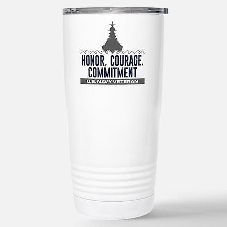 U.S. Navy Honor Courage Commitment Travel Mug Travel Mug