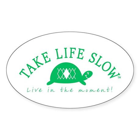 TLS Green Turtle, Oval Sticker