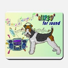 """Fox Terrier_""""Wired"""" Mousepad"""