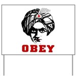 Obey Face Yard Sign