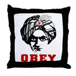 Obey Face Throw Pillow