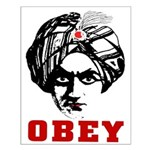 Obey Face Small Poster