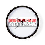 Know Guns Wall Clock