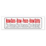 Know Guns Bumper Sticker (50 pk)