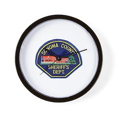 Sonoma Sheriff Wall Clock