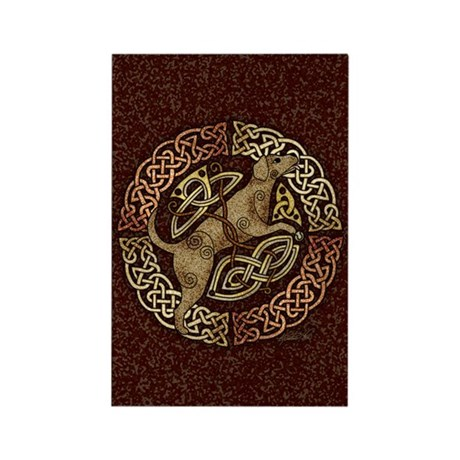 Celtic Dog Rectangle Magnet (100 pack)