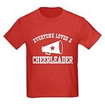 Everyone Loves a Cheerleader Kids Dark T-Shirt