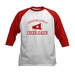 Everyone Loves a Cheerleader Kids Baseball Jersey