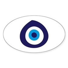 Evil Eye Oval Bumper Stickers