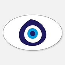 Evil Eye Oval Decal