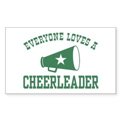 Everyone Loves a Cheerleader Rectangle Decal