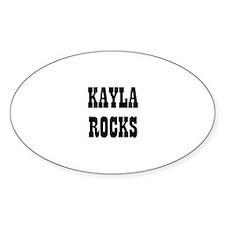 KAYLA ROCKS Oval Decal
