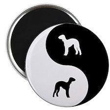 Yin Yang Bedlington Magnet