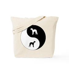 Yin Yang Bedlington Tote Bag