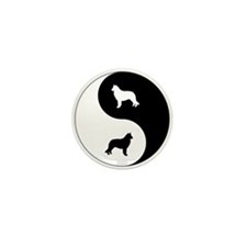 Yin Yang Sheepdog Mini Button (10 pack)