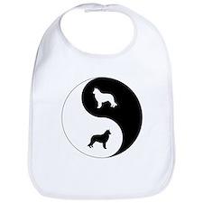 Yin Yang Sheepdog Bib