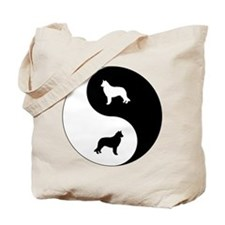 Yin Yang Sheepdog Tote Bag