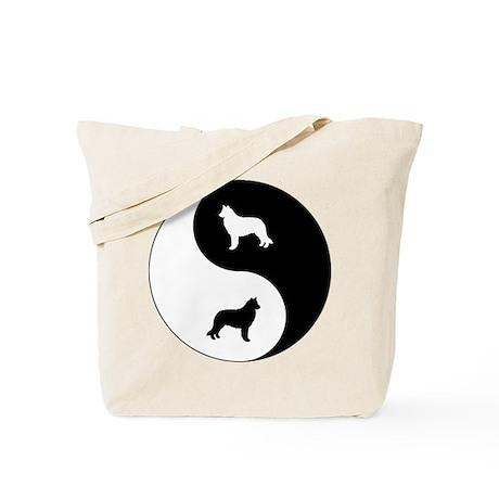 Yin Yang Sheepdog Tote Bag