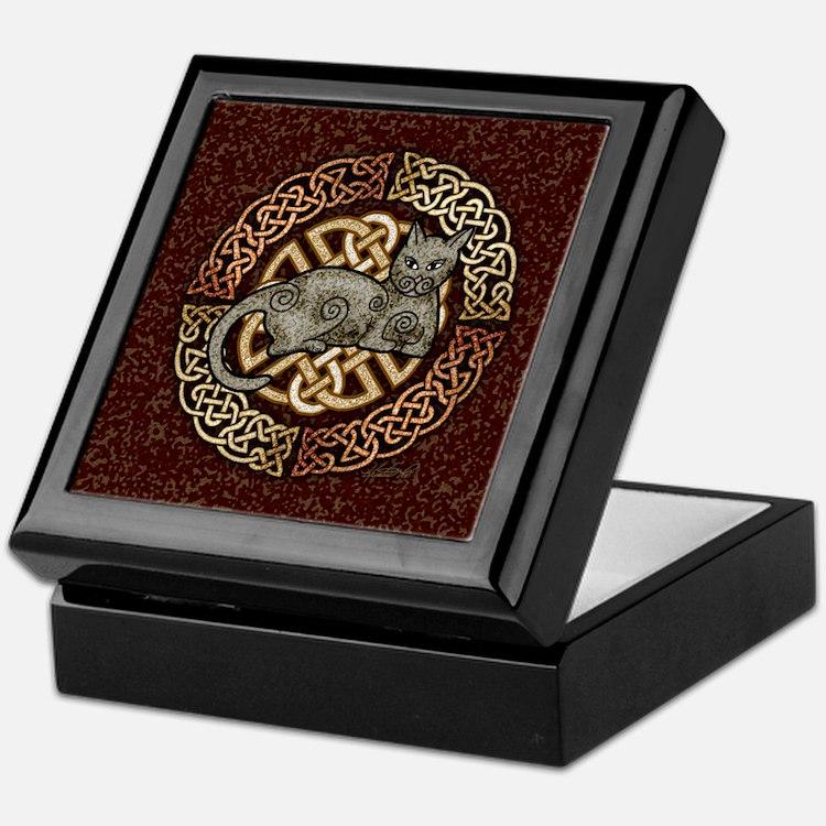 Celtic Cat Keepsake Box