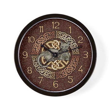 Celtic Cat Wall Clock