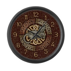 Celtic Cat Large Wall Clock