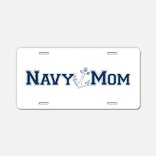 Navy Mom (with anchor) Aluminum License Plate