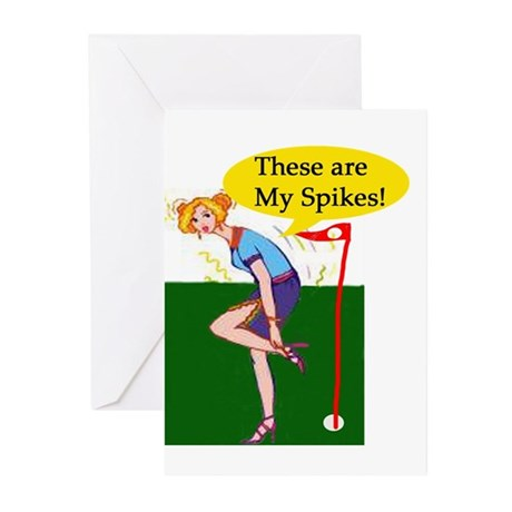 Spiked Golf Greeting Cards (Pk of 10)