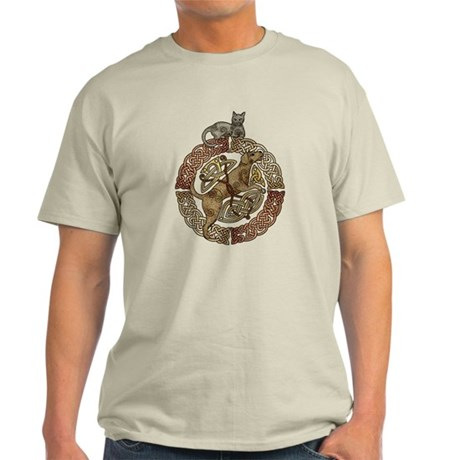 Celtic Cat and Dog Light T-Shirt