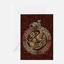 Celtic Cat and Dog Greeting Card