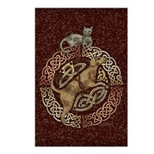 Celtic Cat and Dog Postcards (Package of 8)