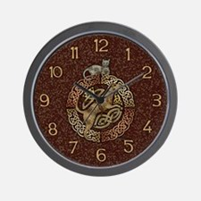 Celtic Cat and Dog Wall Clock