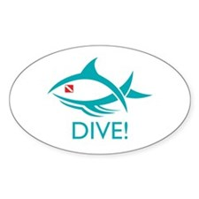 Dive! Tribal Fish Oval Decal