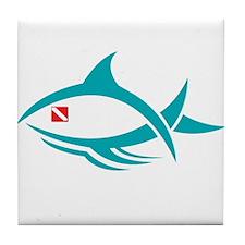 Tribal Fish/Dive Flag Tile Coaster