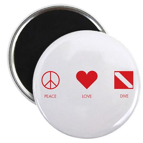 "Peace Love Dive 2.25"" Magnet (100 pack)"