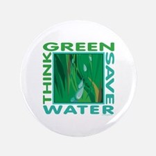 """Water Conservation 3.5"""" Button"""