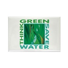 Water Conservation Rectangle Magnet