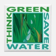 Water Conservation Tile Coaster