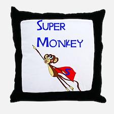 Super Monkey Throw Pillow