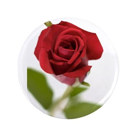 """RED ROSE_9 3.5"""" Button"""