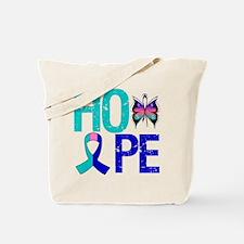 HopeButterfly ThyroidCancer Tote Bag