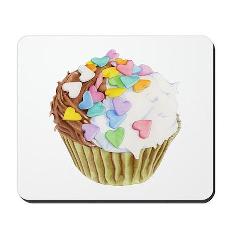 Cupcake Hearts Mousepad
