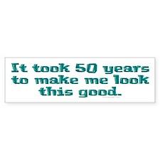 It took 50 years to .. Bumper Car Sticker