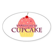 Call Me Cupcake Oval Decal
