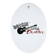 Rockin Little Brother (2009) Oval Ornament