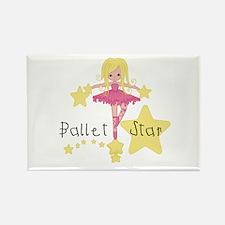 Ballet Star Rectangle Magnet