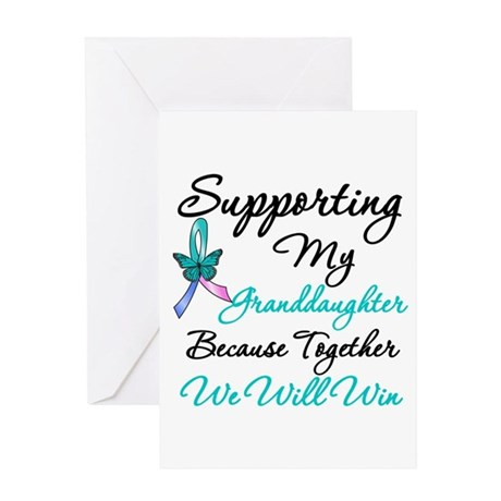 Thyroid Cancer Granddaughter Greeting Card