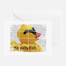 Cute Duck ducks ducky duckie duckies rubber look eye ey Greeting Card