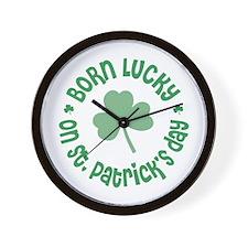 St. Patrick's Day Birthday Wall Clock