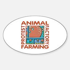 Factory Farming Sticker (Oval)