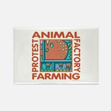 Factory Farming Rectangle Magnet